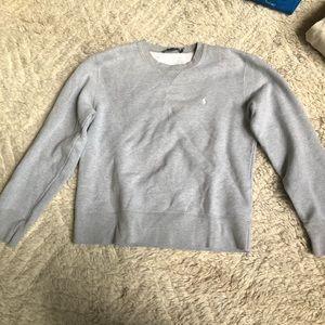 Kid's gray polo crew sweatshirt size M